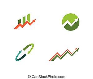 handlowy fachowiec, strzała, szablon, logo