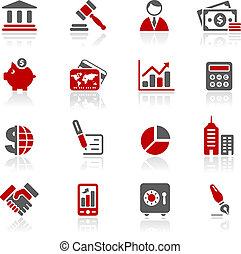 handlowy & finansują, ikony, /, redico