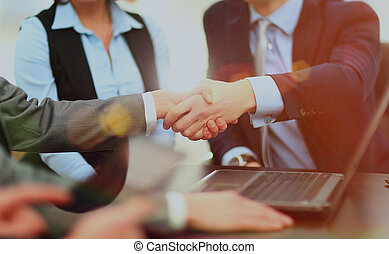 handlowy, handshake.