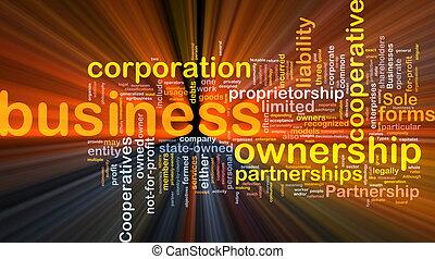 handlowy, jarzący się, pojęcie, corporateion, tło