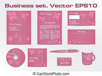 handlowy, komplet, towarzystwo, logotype, projektować, zbiorowy, twój, identyczność, hummingbird