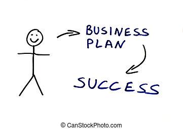 handlowy, koncepcja, plan, ilustracja