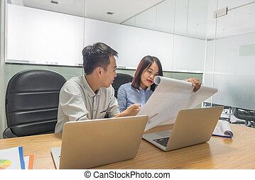 handlowy, laptop, nowoczesny, wykresy, wykresy, analizując, dochód, drużyna