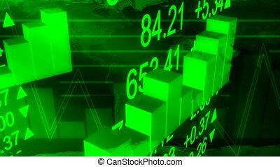 handlowy, obsypać mapę, w, zielony, pętla