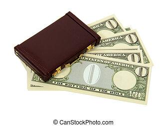 handlowy, pieniądze, zero, korzyści, wartość