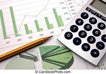 handlowy, pokaz, wykres, powodzenie