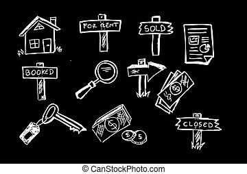 handlowy, posiadanie, symbol