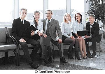 handlowy, posiedzenie, biuro., drużyna, profesjonalny, westybul