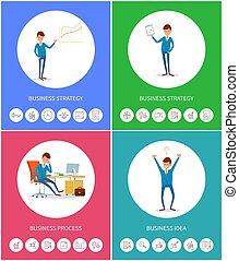 handlowy, proces, idea, strategia, plan, biznesmen