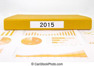 handlowy, roczny, wykresy, informuje, liczba, wykresy, rok, 2015