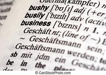 handlowy, słownik