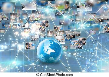 handlowy, sieć