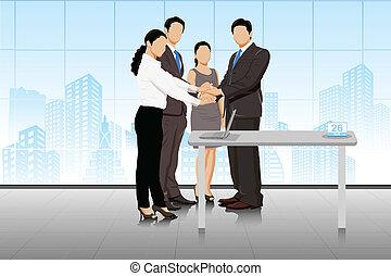 handlowy sprzedają, businesspeople