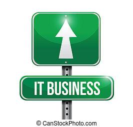handlowy, to, ilustracja, znak, projektować, droga