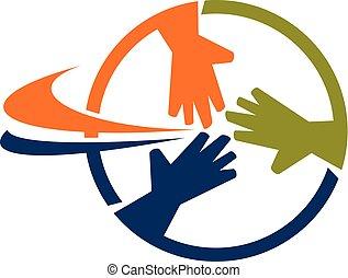 handlowy, wektor, projektować, szablon, logo, teamwork