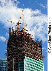 handlowy, wieża, zbudowanie