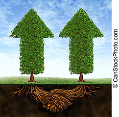 handlowy, współudział, wzrost