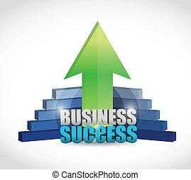 handlowy, wykres, unikalny, powodzenie, ilustracja