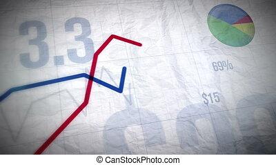 handlowy, -, wykresy, rozwój, ful, 1080p