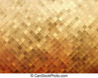 handlowy, złoty, eps, tło., 8, mozaika