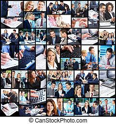 handlowy zaludniają, collage.