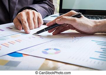 handlowy zaprzęg, pracujący dalejże, niejaki, nowa sprawa, plan, z, nowoczesny, cyfrowy, computer.
