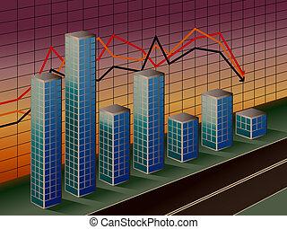 handlowy, zasuńcie wykres