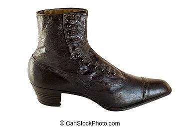 Handmade antique shoe - Handmade shoe from around 1890,...