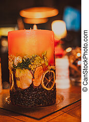 Handmade aromatic candle