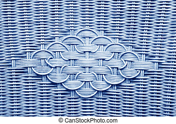Handmade bamboo weaving decorative pattern