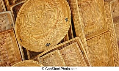 Handmade Baskets for Sale at Balinese Market - Many,...