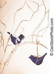 Handmade bird decorations - Handmade easter decorations,...