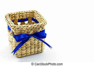 Handmade box made from dry water hyacinth decoration, Hand craft