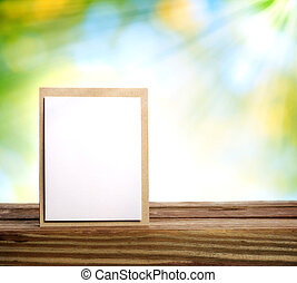 Handmade card with sun beam