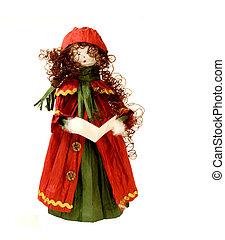 HANDMADE CHRISTMAS CAROL SINGER