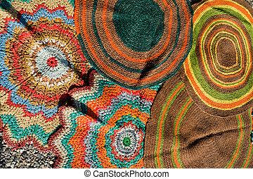 Handmade circular oriental carpets