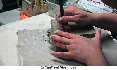 Handmade clay modeling. 4K. - Handmade clay modeling. Shot...