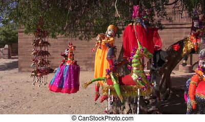 handmade cloth dolls in Rajasthan, India