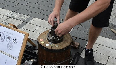 handmade coin tool - Man make handmade occasional coins for...