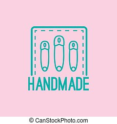 Handmade colorful logo design with pins