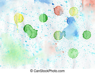 Handmade colorful watercolor backdrop for scrapbooking and ot
