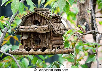 Handmade creative bird box