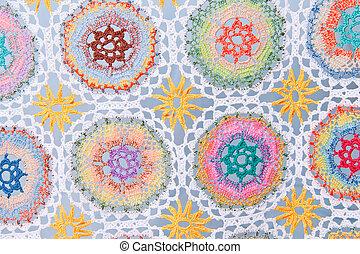 Handmade crochet fabric pattern