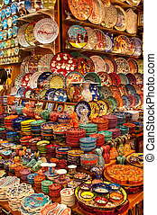 Handmade dishware - Istanbul, Turkey, The Grand bazaar; A...