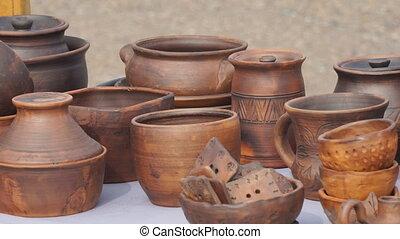 handmade, drewniany, przybory, stół