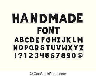 Cut out vector font  handmade letters  Handmade font