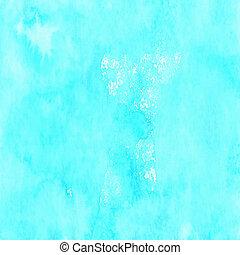 Handmade gentle blue watercolor background for scrapbooking