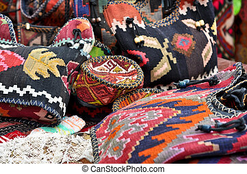 handmade genuine ethnic bags and caps made of cloth