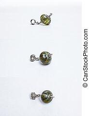 Handmade glass multicolored beads