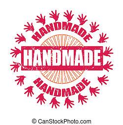 handmade grunge stamp on whit vector illustration